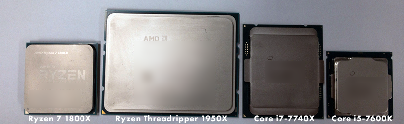 「Ryzen Threadripper」と「Ryzen 7」、「Core X(LGA2011)」「Core i5(LGA1151)」の比較 01