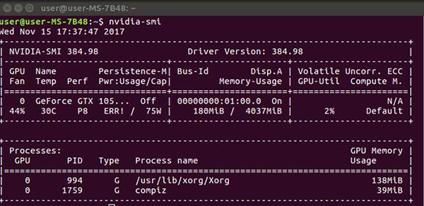 NVIDIA GeForceGTX1050TiでUbuntu 16.04(2回目)ドライバインストールが完了