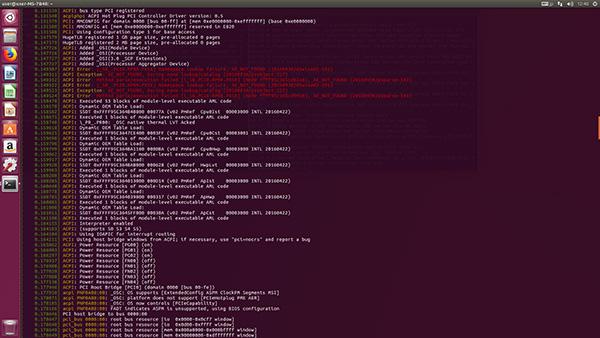 NVIDIA GeForceGTX1050TiでUbuntu 17.10(2回目):ACPI関係のエラー