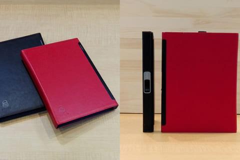 世界初の指紋認証センサーを搭載したロック機能付きノート「LOCKBOOK」