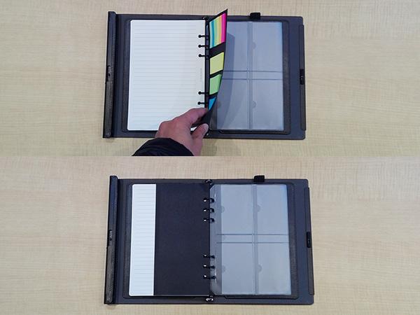 多機能ノート「LOCKBOOK」各種付箋とカードホルダー