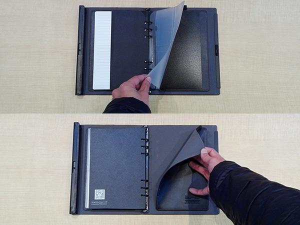 多機能ノート「LOCKBOOK」書類を挟めるポケット