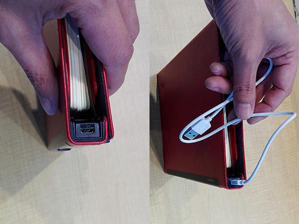 多機能ノート「LOCKBOOK」搭載バッテリー