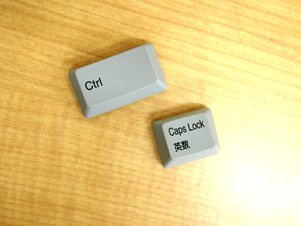 REALFORCE A、REALFORCE SAには入替用の[Ctrl]キー、[Caps Lock]キーが付属します