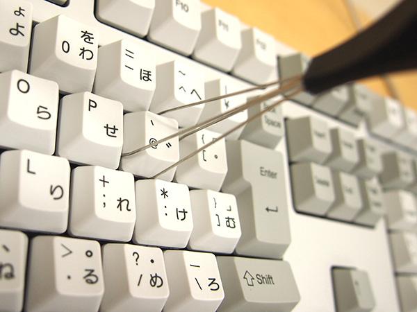 REALFORCE A、REALFORCE SAのキーにキートッププラー引っかけます。