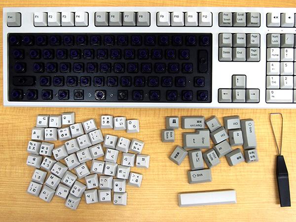 REALFORCE A、REALFORCE SAのキースペーサーを敷く部分のキートップがすべて外れました