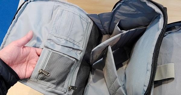 多機能バッグ「UDEE」上段収納