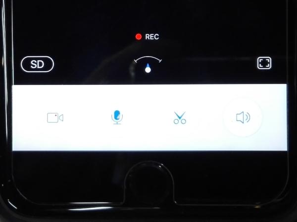 アプリ画面下部(左から、スマホへの録画/マイク[こちらの声を発する]/画像のキャプチャ/スピーカー[相手の声が聞こえる])
