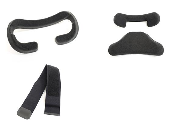 フェイスクッション・ストラップ・ヘッドレストにあたる部分のクッションは構造上、2つに別れている