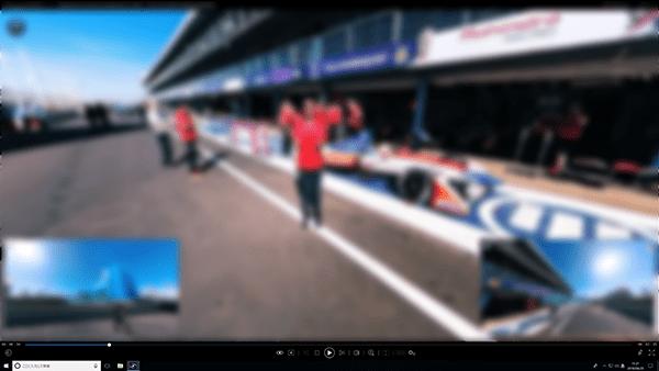 360°動画の再生:YouTubeとVimeoの360°動画にもマルチビュー機能は対応します。