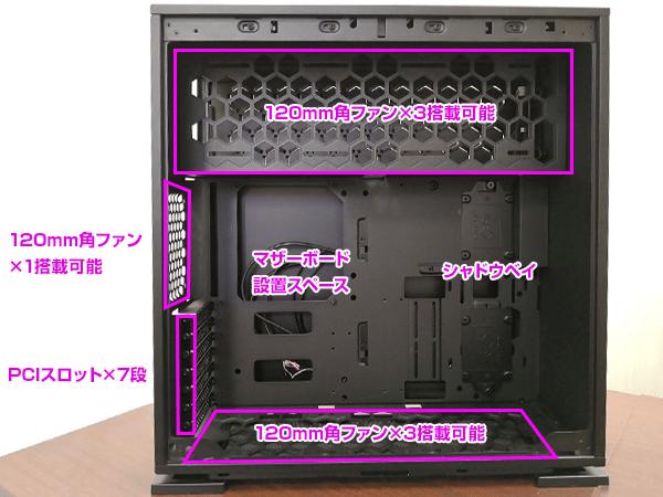 IN WIN IW-CF06B 303-Black 内部構造