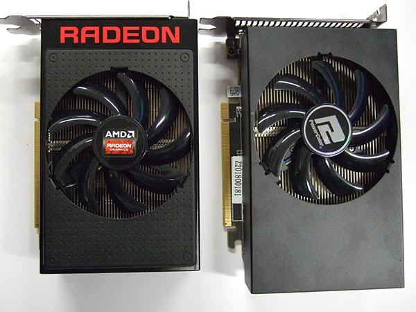 左:Radeon R9 Nano 右:Radeon RX VEGA 56 Nano Edition