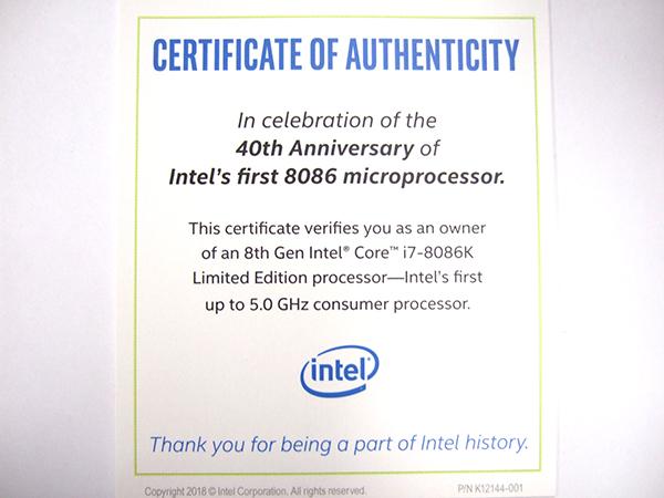 同封されている40周年と5.0GHzを伝える台紙