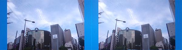 sRGB(左)とAdobeRGB(右)を1つの画面で比べて確認ができる