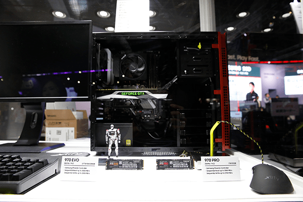 第3世代 NVMe SSD 970 PRO EVO の東京ゲームショウ2018での展示も