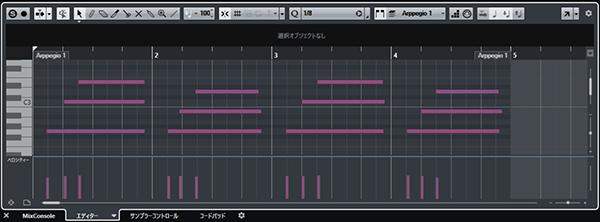 MIDIレコーディング画面