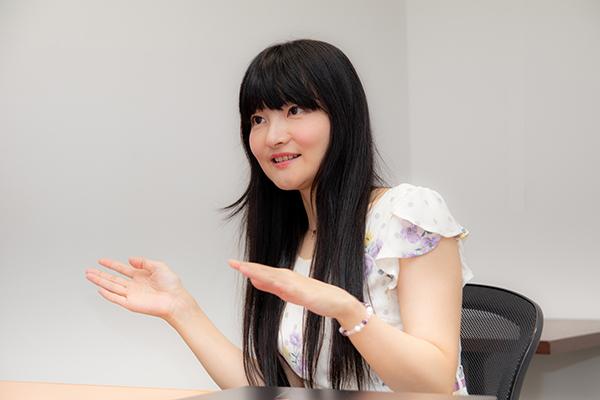 ニコニコ動画について語る石黒千尋さん