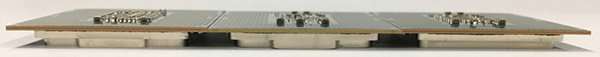 CPU側面:左からCoffee Lake「Core i7-8700K」、Kaby Lake「Core i7-7700K」、Skylake「Core i7-6700K」