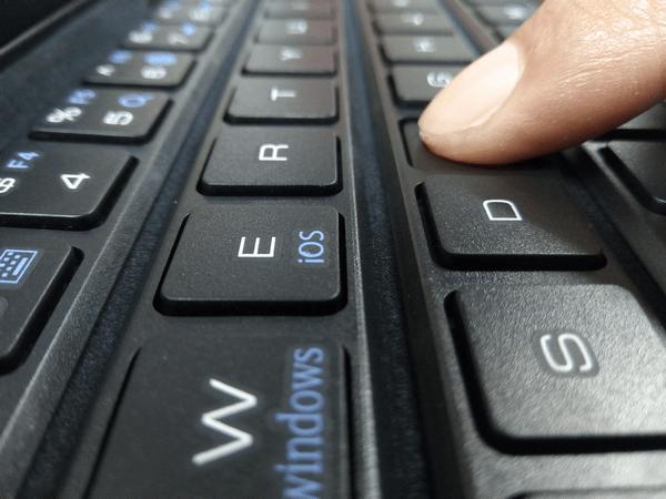 Gotypeのキーボードはストロークのあるキータッチ