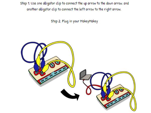 図を参考にワニ口クリップコードをつないだ後、パソコンに接続する