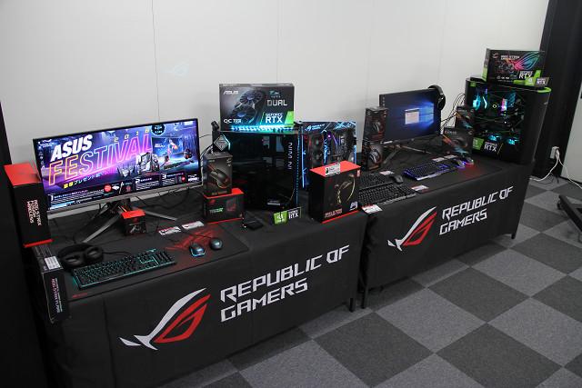 展示のゲーミングPCやデバイス