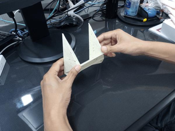 スマホ・タブレット・ノートパソコンに対応した「Foldable2」の折り方1-手順③