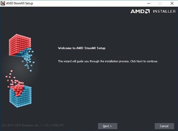 AMD StoreMIのインストール開始