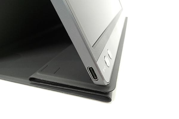 ASUS「ZenScreen Go」本体側面のUSB Type-Cポート
