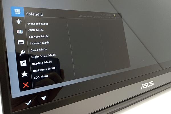 ZenScreen Go OSDメニュー:Splendid