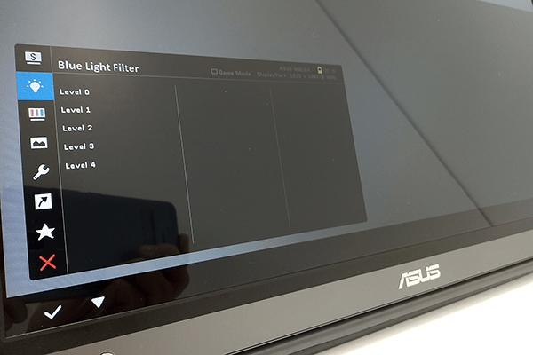ZenScreen Go OSDメニュー:ブルーライト軽減