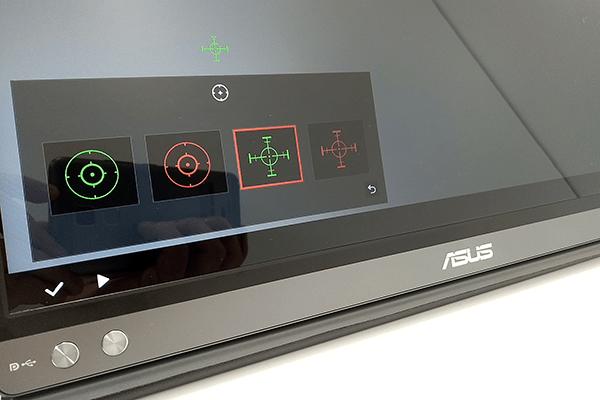 ZenScreen Go OSDメニュー:十字線の変更