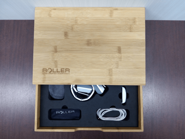 重厚な木箱に収納されたスイス製の究極のヘッドホン「LUZLI Roller MK01」