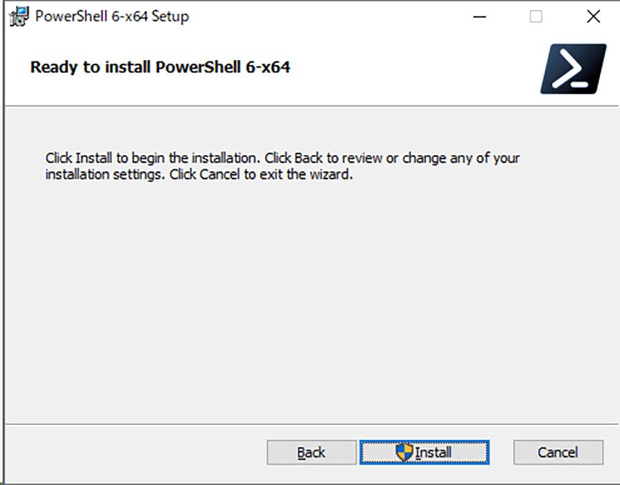 確認画面で [Install] ボタンをクリックする