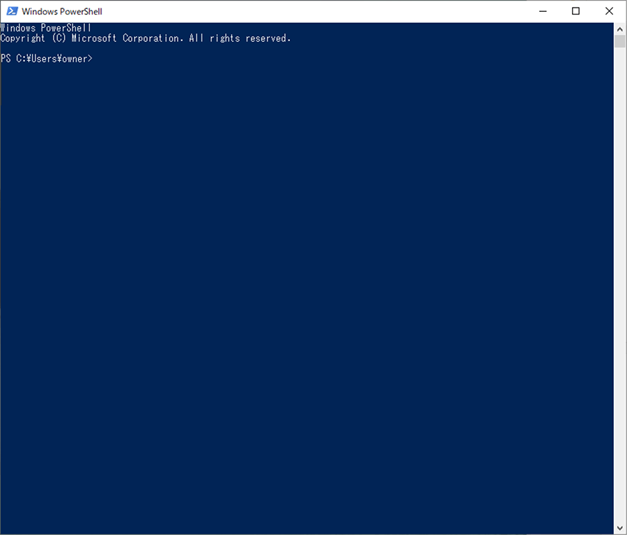 Windows PowerShell 5.1の起動画面