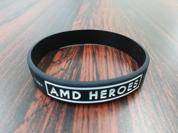 AMD HEROESロゴ入りリストバンド