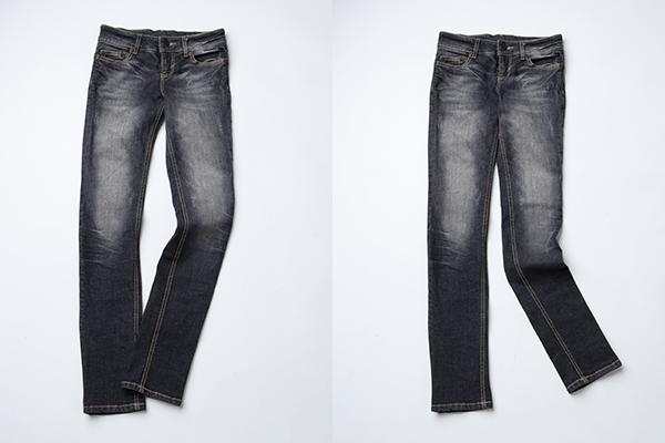 同じジーンズなのに履いている人の性別が見えてきますね!