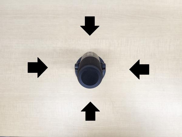 「MDRILL ONE」無指向性モードの音を捉える方向