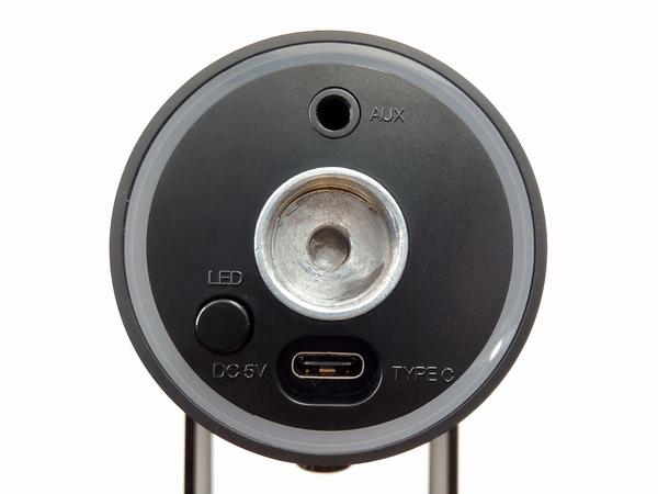 MDRILL ONEマイク本体底面の端子とボタン
