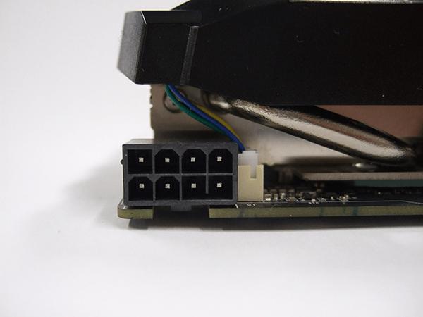 8Pin のみのGeForce GTX 1660 Tiの電源コネクタ