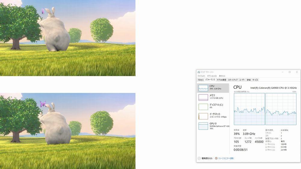 PowerPointで2160p 60fpsを2画面同時再生(グラフィックスカードを使用することで安定)
