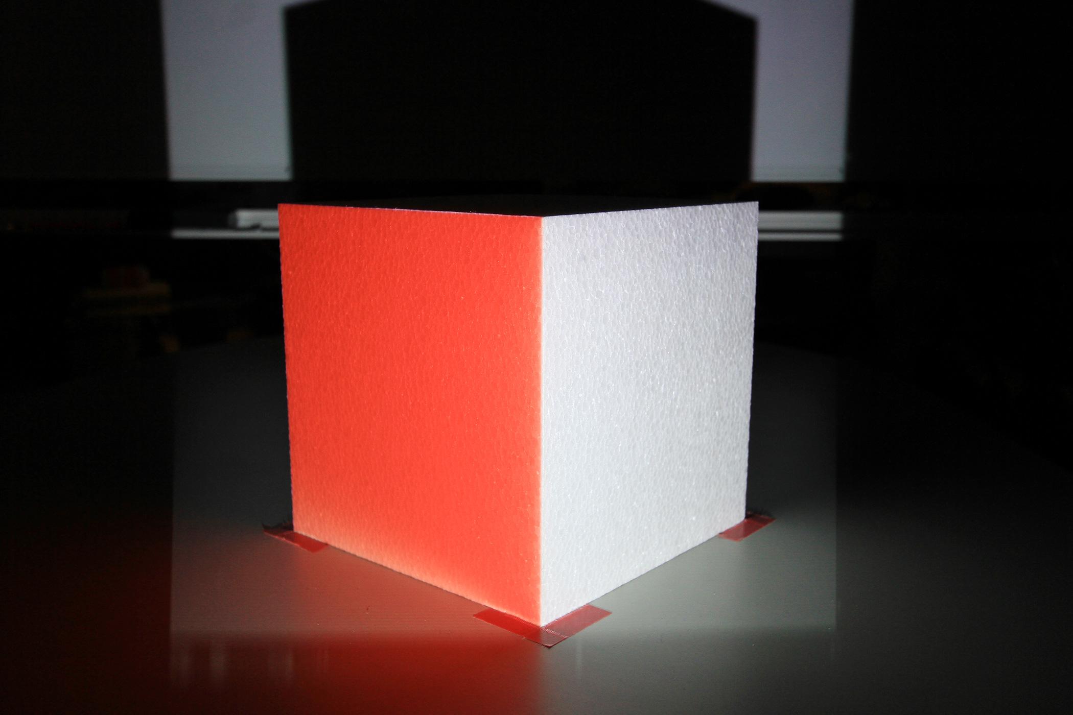 箱の角に合わせます