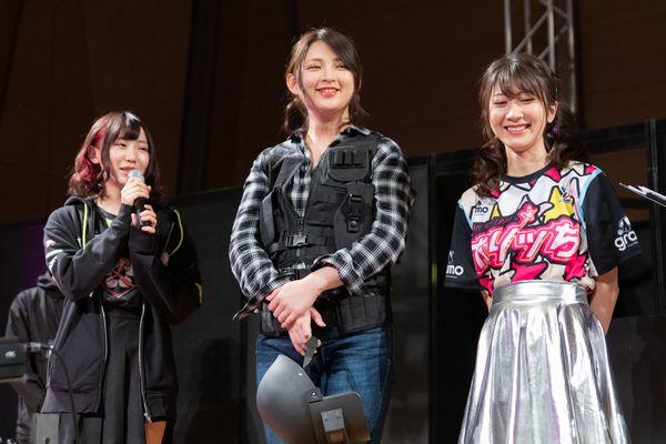 左から、はつめさん、鈴木咲さん、石田晴香さん