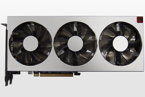 AMD Radeon VIIグラフィックスカード全景