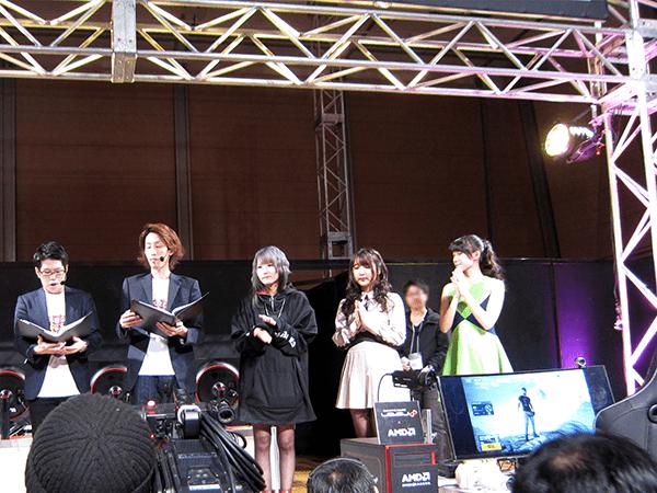 左から、OooDa氏、SHAKA氏、青木志貴さん、水沢柚乃さん、辻美優さん