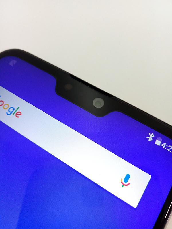 ZenFone Max Pro(M2)の画面上部のノッチ部分