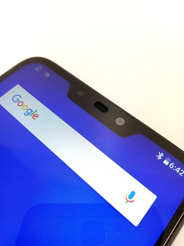 ZenFone Max (M2)の画面上部のノッチ部分