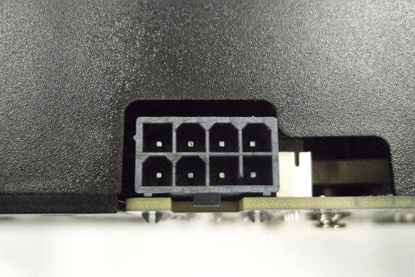ZOTAC GeForce GTX 1660 6GB GDDR5の電源コネクタ部分