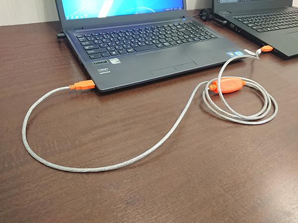 専用USBケーブルで接続した場合