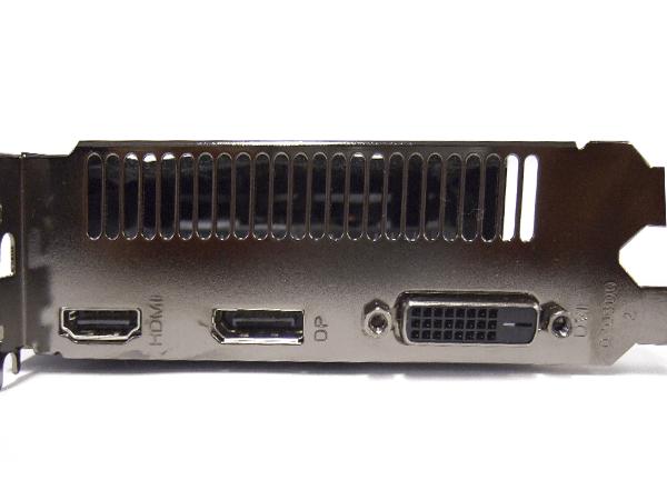 ZOTAC GeForce GTX 1650 4GB GDDR5出力端子(HDMI×1、DisplayPort×1、DVI×1)
