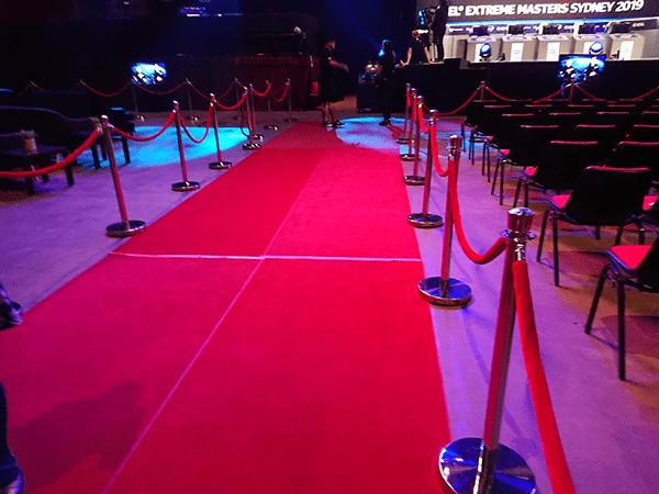 選手たちが入場の際に歩く花道
